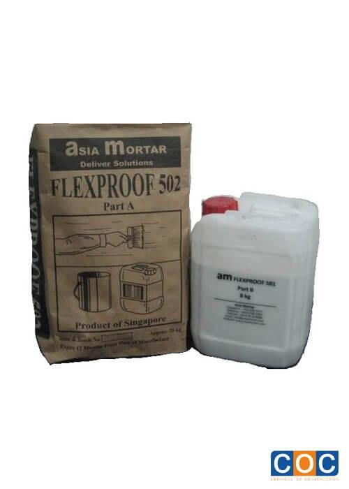 Màng chống thấm gốc xi măng Asia Mortar Flexproof-502