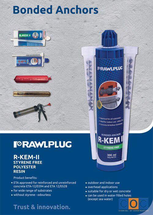Keo Khoan Cấy Thép Rawplug