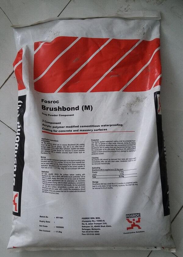 màng chống thấm gốc xi măng Brushbond (M)